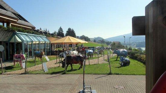 Restoroute Motel de la Gruyere: JARDIM DO HOTTEL
