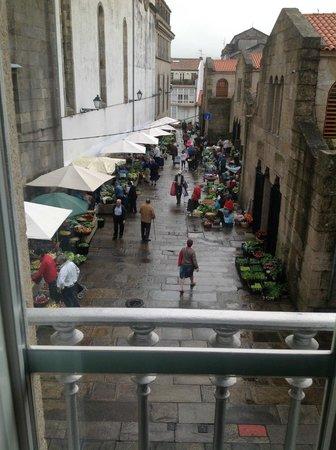 Hotel Pazo de Altamira: il mercato visto dalla mia stanza