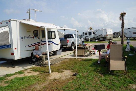 Our Campsite Picture Of Dellanera Rv Park Galveston