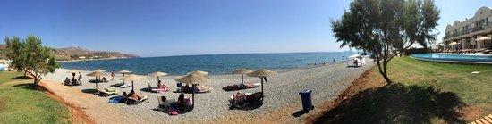 Grand Bay Beach Resort: panorama (beach + pool + part of hotel)
