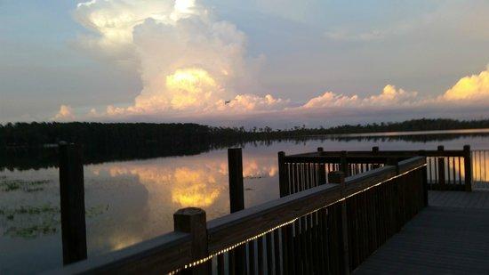 Blue Heron Beach Resort: Vista de frete para o lago
