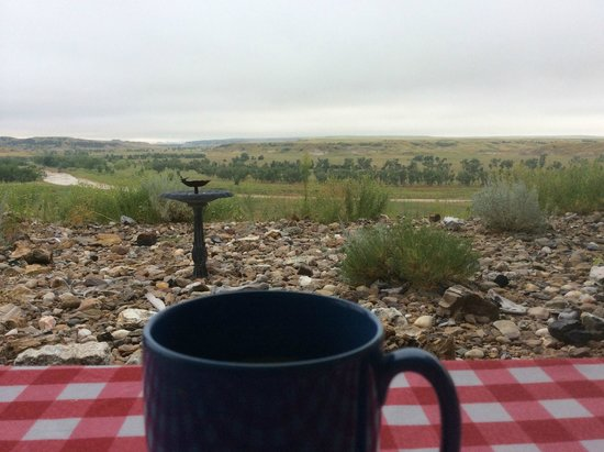 Circle View Guest Ranch: My view as I was enjoying my morning coffee and waiting for breakfast.