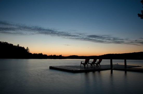Algonquin's Edge Resort: This was the scene that we had every evening.