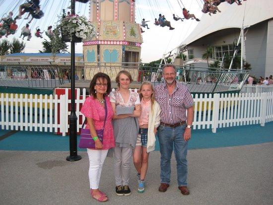 Butlins Minehead: FAMILY AT FAIRGROUND