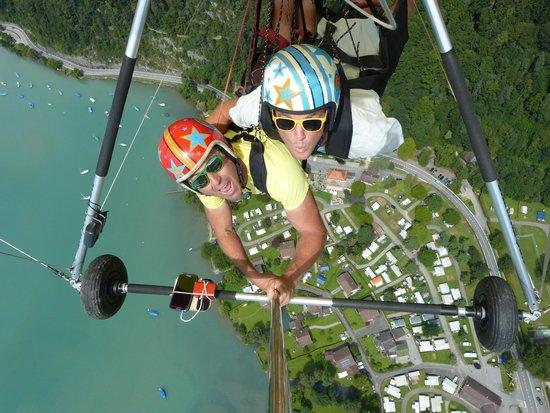 Hang Gliding Interlaken: Toucan Travis and Birdman Bernie