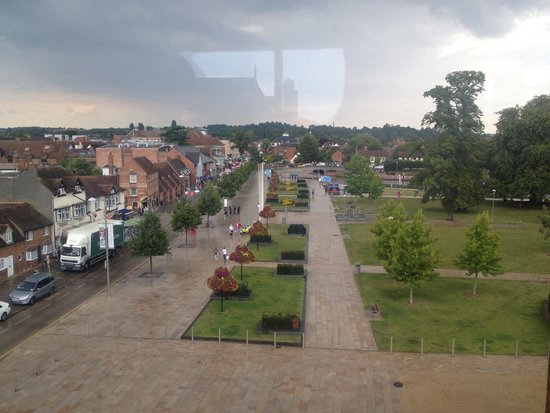 Stratford Town Walk: View over Stratford, still beautiful with grey skies!