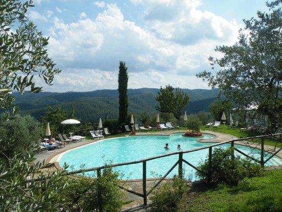 La Solaia: piscine avec vue