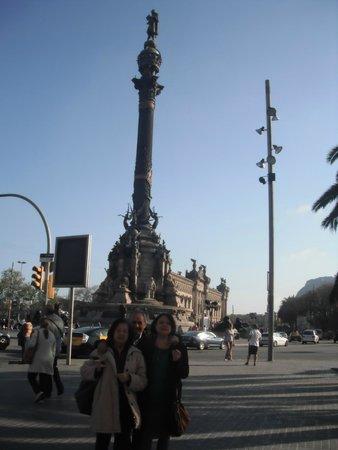 Las Ramblas: Statua di Cristoforo Colombo.
