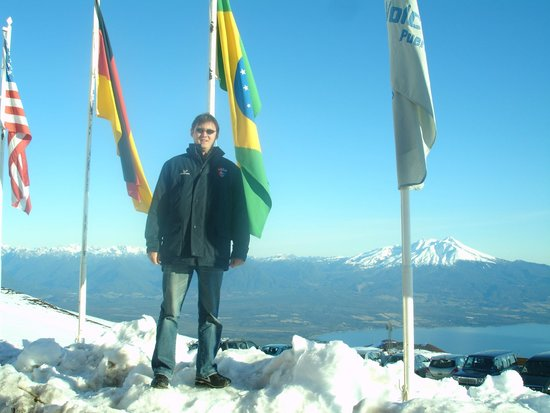 Volcan Osorno: Ao fundo outro vulcão