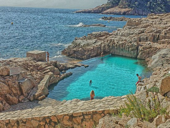 piscine naturelle mais priv de l 39 h tel es cau picture of playa de aiguablava begur. Black Bedroom Furniture Sets. Home Design Ideas