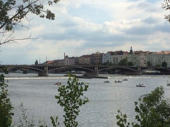 Mamaison Riverside Hotel Prague : view from across the river. hotel at far right