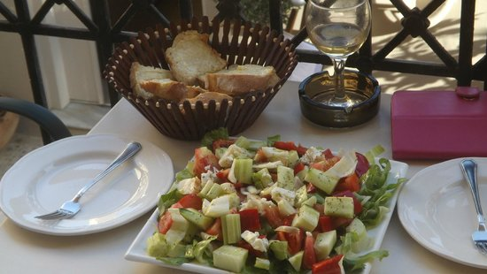 Ideon Hotel : our recreation of a Greek salad