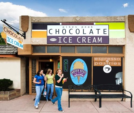 Pikes Peak Chocolate and Ice Cream: We love Manitou Springs!