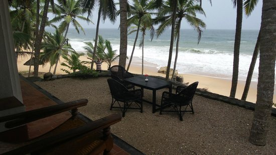 Karikkathi Beach House: Dining / view from the ground