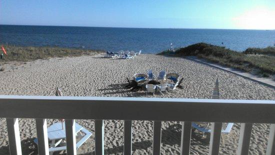 Sandbars on Cape Cod Bay : View from balcony