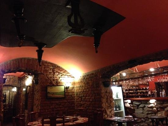 Lal Qila - The Indian Restaurant : Is that a piano hanging from the ceiling?