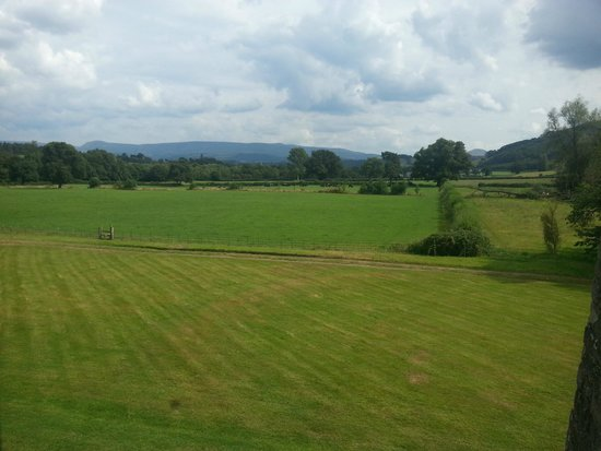 Llangoed Hall: View from the room