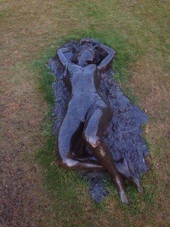 Slieve Donard Resort and Spa: sun bathing statue