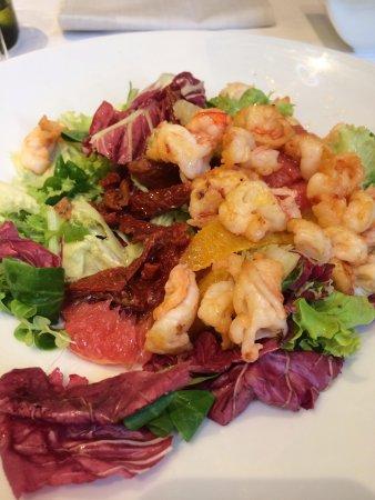 SOHO: Салат с цитрусами и креветками ! Ну очень вкусно!