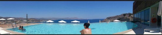 Lindos Blu: Pool view panoramic