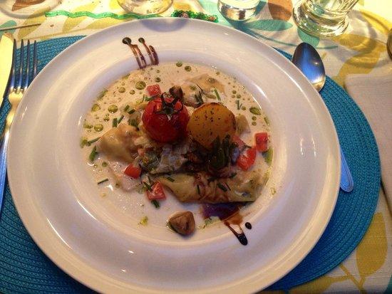 La Croq'au Sel : Ravioles de langoustines.