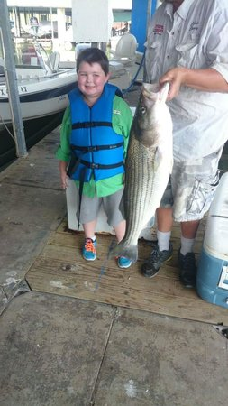 Striper Express Guide Service : One happy boy! Thanks Chris