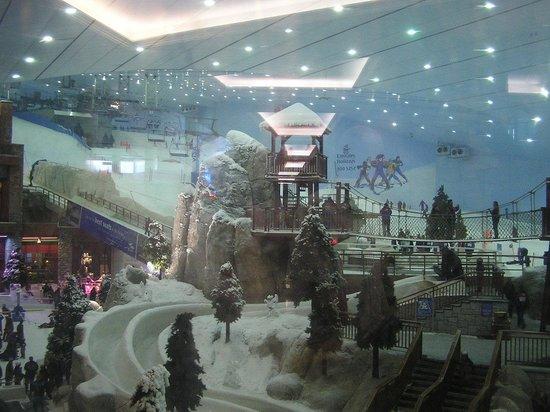 Ski Dubai: l'interno