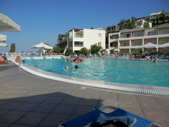 Kipriotis Aqualand: Top pool. Water polo played here