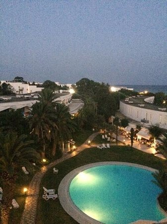 SENTIDO Phenicia: quiet pool at night from room 3024