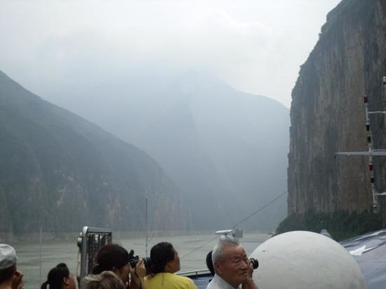 Cruising through the three gorges.