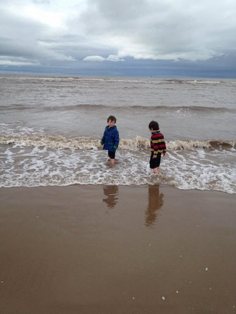 Ainsdale Beach: Still in the sea in February!