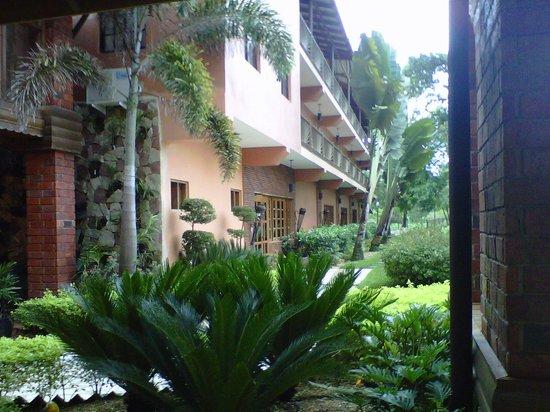 Hotel Gran Jimenoa: Vista desde el Lobby