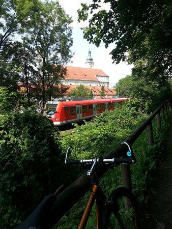 St. Maria Himmelfahrt: Kloster Furstenfeld - S-Bahn view.
