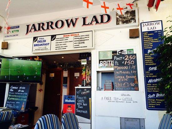 Jarrow Lad: Out side :)