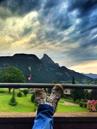 Steigenberger Alpenhotel and Spa: Ausblick vom Balkon
