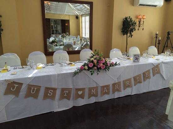 Hadley Park House Hotel: Main wedding table