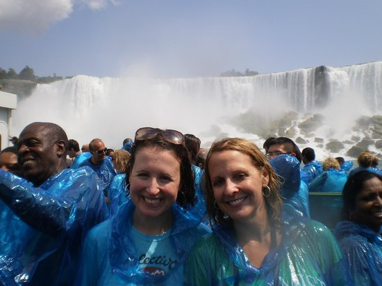Niagara Falls State Park: On the Maid of the Mist - heading back to the dock