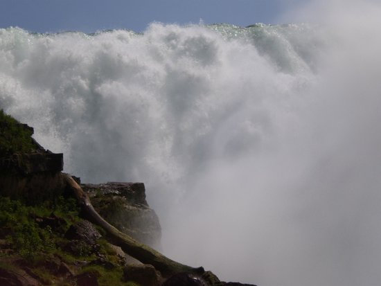 Niagara Falls State Park: View from the stairwalk along side the falls after Maid of the Mist tour