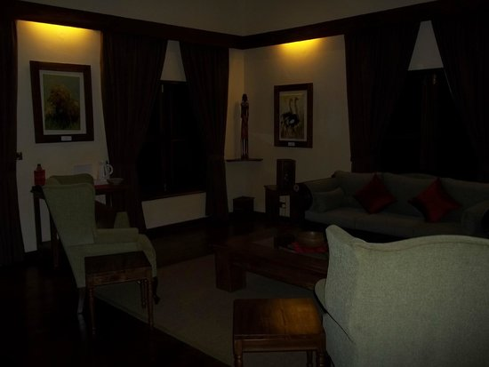Neptune Ngorongoro Luxury Lodge : Living Room (sorry the pic came out dark)