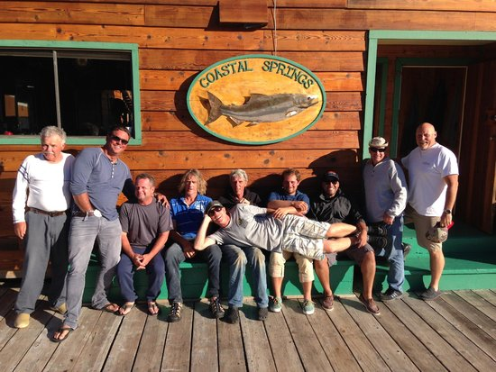 Coastal Springs Float Lodge: Our Group + Staff (never mind the weirdo with his hand down his pants)