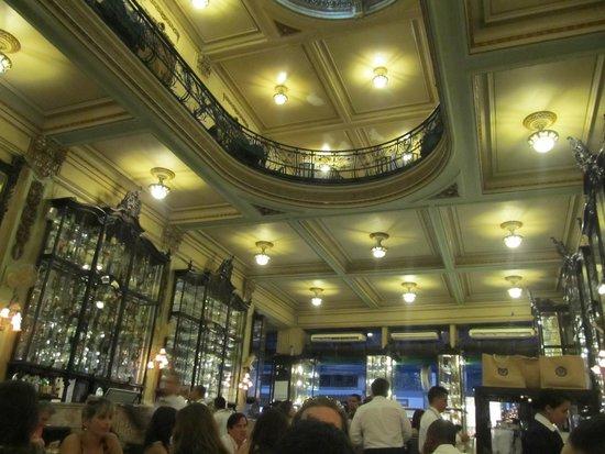Confeitaria Colombo: Detalhes do teto
