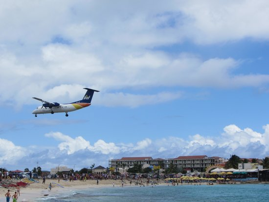 Sonesta Maho Beach Resort, Casino & Spa : Planes landing all day