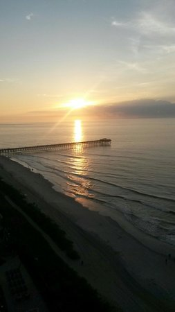 Sandy Beach Resort : View from the 17th floor this morning. 8-12-14