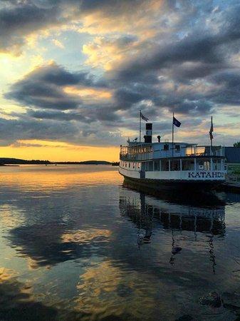 Katahdin Cruises and Moosehead Marine Museum: Steamship Katahdin at sunset