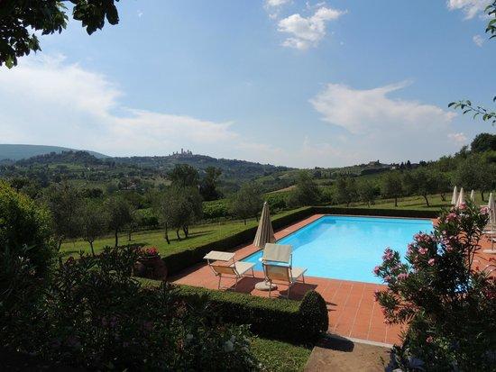 """Pietrafitta Podere La Costa: Zwembad met uitzicht om """"u"""" tegen te zeggen."""
