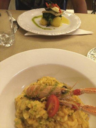 Quermesse Restaurante: Risotto de gambas, morue et crevette (plat)