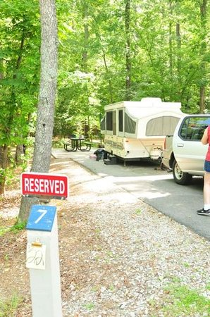 Crater Of Diamonds State Park: Campsite 7 Is Great! By Shower And Park.