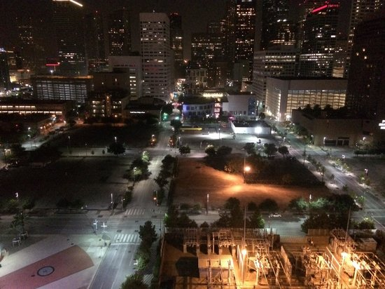 Hilton Americas - Houston: View from Room 16005 Hilton Americas at Night