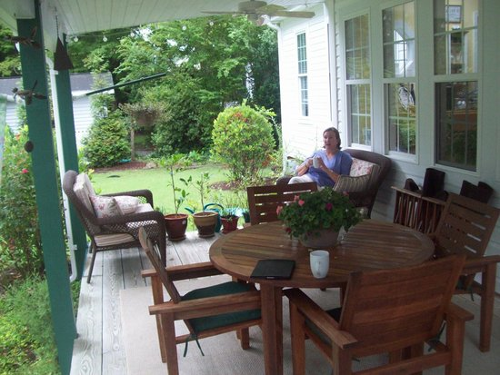 The Inn on Bath Creek: back porch - relaxation!