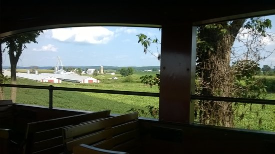 Strasburg Rail Road: View from an open air car